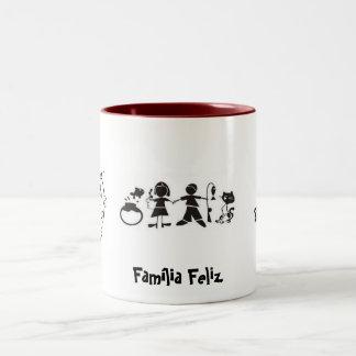 Happy family Two-Tone coffee mug