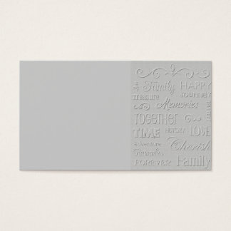 HAPPY FAMILY WEDDING REUNIONS TOGETHER ADVENTURE R BUSINESS CARD