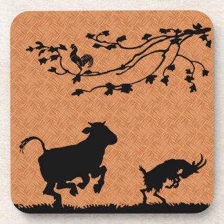 Happy farm animals coasters