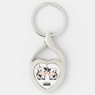 Happy Farm Animals key-ring _Cows in love Keychain