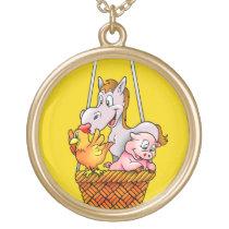 Happy Farm Animals Necklace