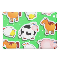 Happy farm background, iPad case