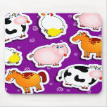 Happy farm background, mousepad