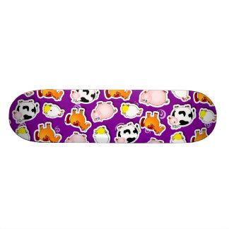 Happy farm background, skate skateboard decks