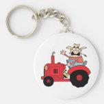 Happy Farmer Basic Round Button Keychain