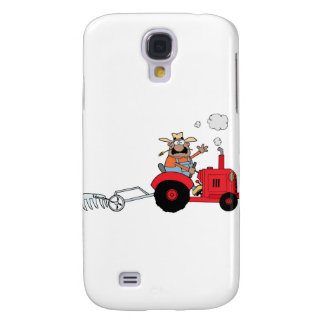 Happy Farmer using a Tractor Galaxy S4 Cover