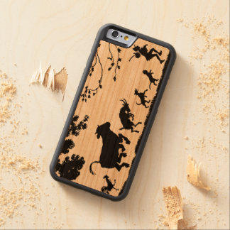 Happy Farmer with Animals Chicken, Cow, Goat, Dog Carved Cherry iPhone 6 Bumper Case