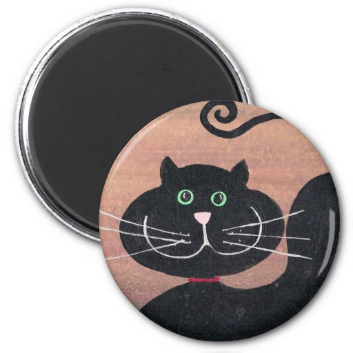 Happy, Fat and Black Fridge Magnets