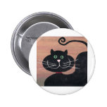 Happy, Fat and Black Pinback Buttons