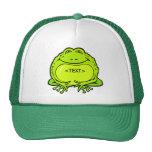 happy fat frog, <TEXT> Hats