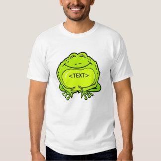 happy fat frog, <TEXT> Tee Shirt