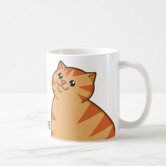 Happy Fat Orange Cat Coffee Mug