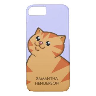 Happy Fat Orange Cat iPhone 8/7 Case