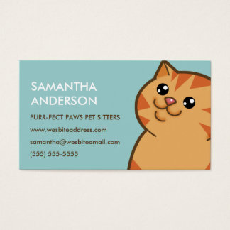 Happy Fat Orange Cat Personalized Business Cards