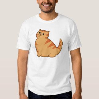 Happy Fat Orange Cat Tee Shirt