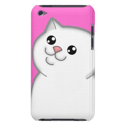 Happy Fat White Cat iPod Touch Case