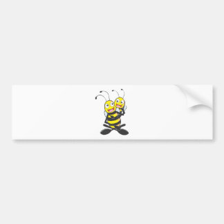 Happy Father and Daughter Bee Having Fun Bumper Sticker