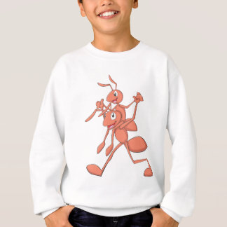 Happy Father and Son Ants Strolling Sweatshirt
