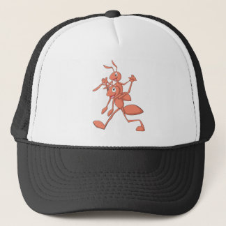 Happy Father and Son Ants Strolling Trucker Hat