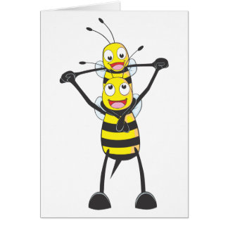 Happy Father and Son Bee Card