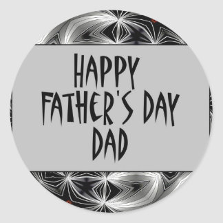 Happy Father's Day Dad Classic Round Sticker