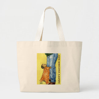 Happy Father Day Large Tote Bag