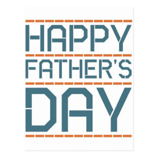 Happy father day! postcard