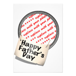 Happy Father s Day Banner Frame Personalized Announcements