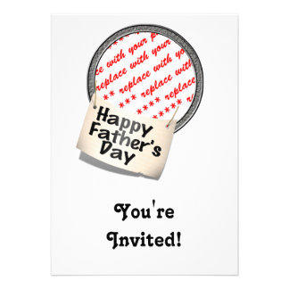 Happy Father s Day Banner Frame Custom Invitations