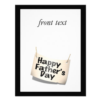 Happy Father s Day Banner Text Design Personalized Announcement