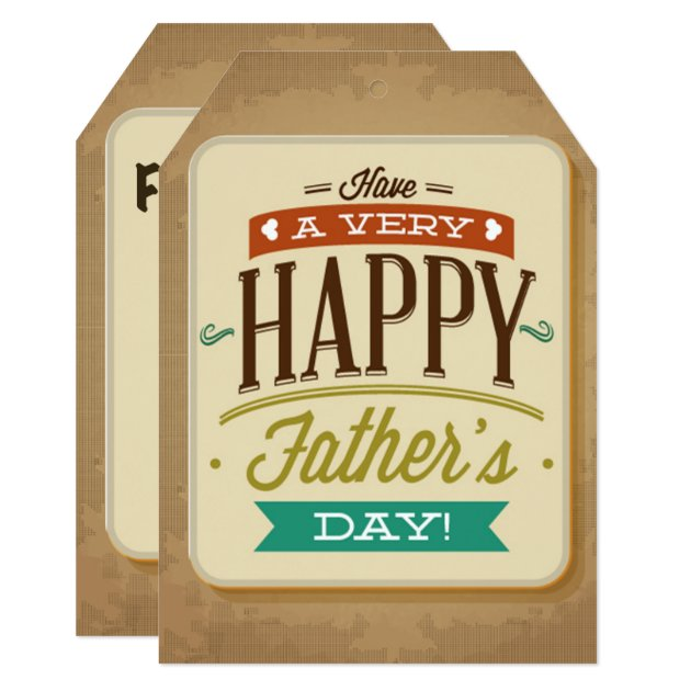 Happy Father's Day Big Gift Tag Card