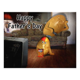 Happy Father s Day - Couch Potatoes Dad Asleep Custom Invitation