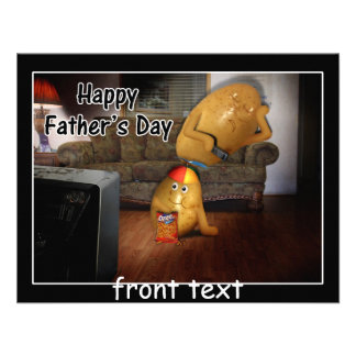 Happy Father s Day - Couch Potatoes Dad Asleep Invitation