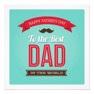 Happy Father s Day Flat Card