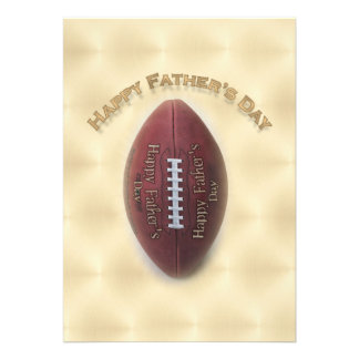 Happy Father s Day Football On Gold Background Invite