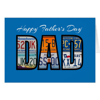 Happy Father ' s Day License Plates Card