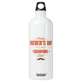 Happy Father's Day To My  Charming Dad Aluminum Water Bottle