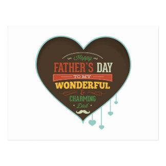Happy Father's Day To My Wonderful & Charming Dad Postcard