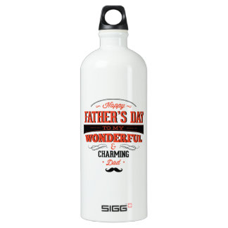 Happy Father's Day To My Wonderful & Charming Dad Water Bottle