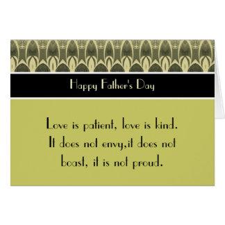 Happy Father's Day 1 Corinthians 13 Love Scripture Card