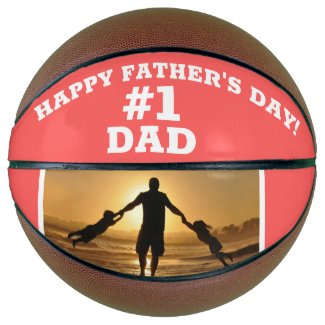 Happy Father's Day #1 Dad Add Photo Basketball