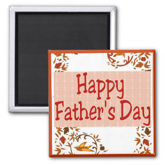 Happy Father's Day 2 Inch Square Magnet