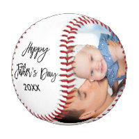Happy Father's Day 2 Photo Brush Script Baseball
