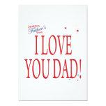 "Happy Fathers Day 5"" X 7"" Invitation Card"