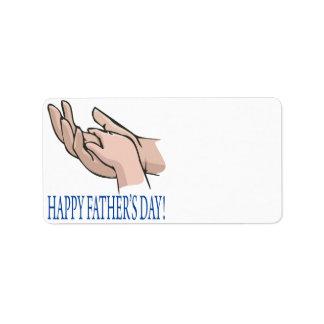 Happy Fathers Day Address Label