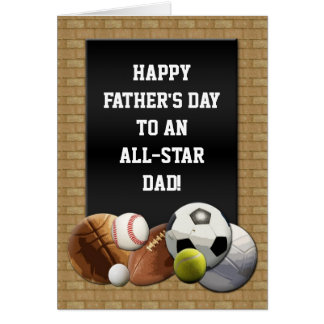 Happy Father's Day All-Star Dad Sports Card