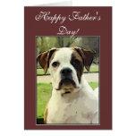 Happy Father's Day American Bulldog greeting card