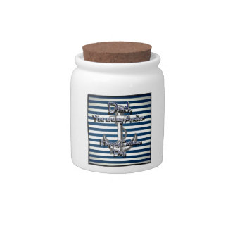 Happy Fathers Day Anchor Candy Jar