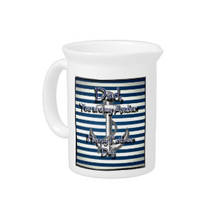 Happy Fathers Day Anchor Drink Pitchers