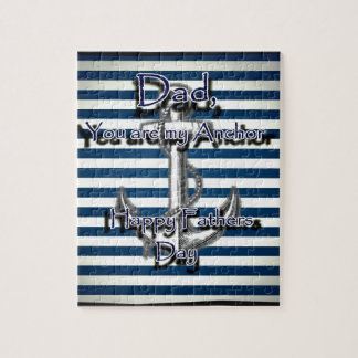 Happy Fathers Day Anchor Jigsaw Puzzle